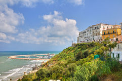 Panoramic view of Rodi Garganico. Puglia. Italy. Stock Photos