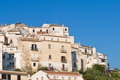 Panoramic view of Rodi Garganico. Puglia. Italy. Stock Image