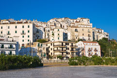 Panoramic view of Rodi Garganico. Puglia. Italy. Stock Image