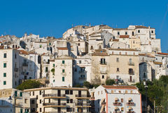 Panoramic view of Rodi Garganico. Puglia. Italy. Royalty Free Stock Images
