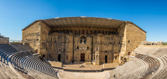 Panoramic view at the Roman theatre in Orange - France Stock Photography