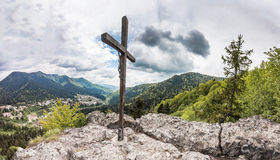 Panoramic view of Romanian Carpathian mountains Royalty Free Stock Image