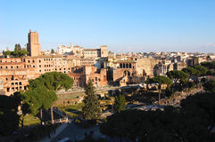 Panoramic view of Rome Stock Image