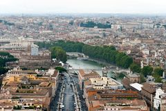 Panoramic view at the Rome Royalty Free Stock Images