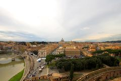 Panoramic view of Rome Stock Photo