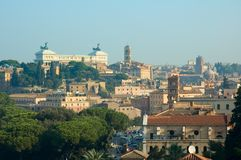 Panoramic view of Rome royalty free stock photography