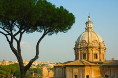 Panoramic view of Rome Royalty Free Stock Images
