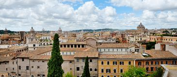 Panoramic view of Rome from the Campidoglio Royalty Free Stock Photos