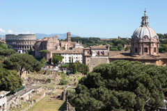 Panoramic view of Rome Royalty Free Stock Image