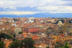 Panoramic view of Rome, Italy Stock Image