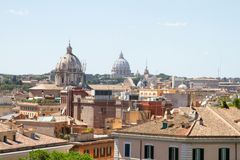 Panoramic view of rome Stock Photography