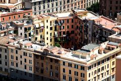 Panoramic view rome Royalty Free Stock Photography