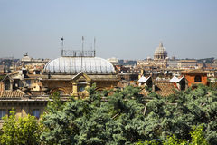 Panoramic view of Rome. Italy Royalty Free Stock Image