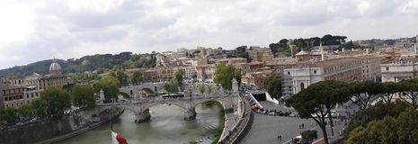 Panoramic view of Rome Italy from the Castel Sant Angelo Royalty Free Stock Photography