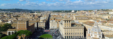 Panoramic view on Rome, Italy Royalty Free Stock Images