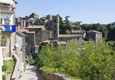 Panoramic view of Ronciglione. Lazio. Italy. Stock Photos