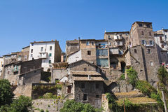 Panoramic view of Ronciglione. Lazio. Italy. Royalty Free Stock Photos