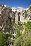 Panoramic view of Ronda, Andalusia, Spain. New bridge in Ronda, one of the famous white villages in Andalusia, Spain Stock Photos