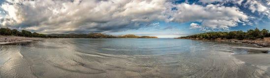 Panoramic view of Rondinara beach in Corsica Stock Photography