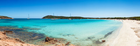 Panoramic view of Rondinara beach in Corsica Island in France Stock Photography