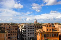 Panoramic view from the roof o Royalty Free Stock Photo
