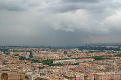 Panoramic view of the roofs of Rome Royalty Free Stock Photography