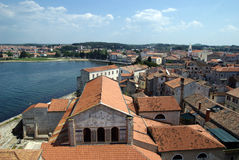 Panoramic view on the rooftops in Porec Royalty Free Stock Images