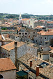 Panoramic view on the rooftops in Porec Stock Photography