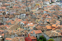 Panoramic view on the rooftops in Porec Royalty Free Stock Image