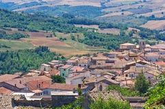 Panoramic view of Roseto Valfortore. Puglia. Italy. Royalty Free Stock Image