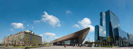 Panoramic view of Rotterdam with the Central Station Royalty Free Stock Photo