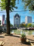 Panoramic view of Rotterdam stock photography