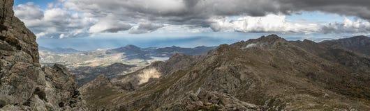 Regino valley and Lac de Codole in Balagne region of Corsica Royalty Free Stock Photography
