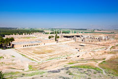 Panoramic view on ruins of ancient Persepolis Royalty Free Stock Photos