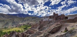 Panoramic view of ruins at Basgo Monastery, Leh, Ladakh, Jammu and Kashmir, India Stock Image