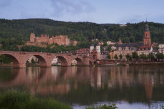Panoramic view of the ruins of the Heidelberg Castle, Germany fr Royalty Free Stock Photo