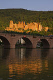 Panoramic view of the ruins of the Heidelberg Castle, Germany fr Stock Photos