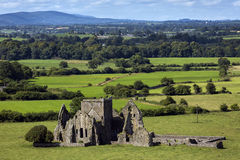 Panoramic view of ruins of an Hore Abbey in Cashel, Ireland. It is a ruined Cistercian monastery and famous landmark in Tipperary. Stock Image