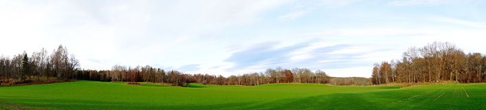 Panoramic view of rural landscape Royalty Free Stock Photo