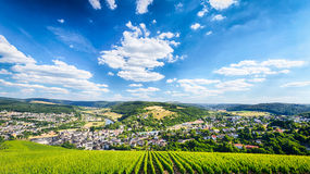 Panoramic View of Saarburg, Germany Royalty Free Stock Photos