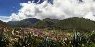 Panoramic View of the Sacred Valley Royalty Free Stock Image