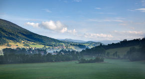 Panoramic view of Saint-Aignan - Drome - France Stock Images