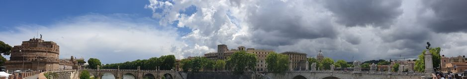 Rome Center Panorama stock images