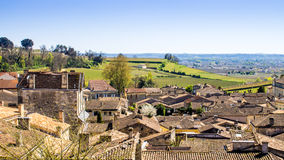 Panoramic view of Saint-Emilion near Bordeaux, France Royalty Free Stock Photo