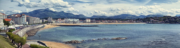 Panoramic view of Saint Jean de Luz, France Stock Images