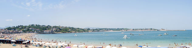 Panoramic view of Saint Jean de Luz, France Royalty Free Stock Photos