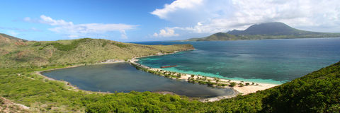 Panoramic view of Saint Kitts Royalty Free Stock Photo