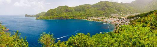 Panoramic view of Saint Lucia Stock Images