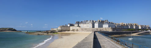 Panoramic view of Saint Malo Royalty Free Stock Photography
