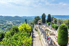 Panoramic view from Saint Paul de Vence, France Royalty Free Stock Images